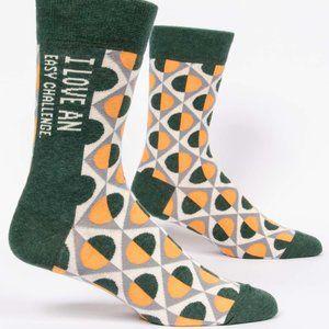 Blue Q Easy Challenge Men's Socks - NWT